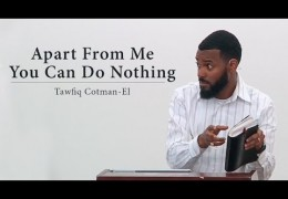 Apart From Me You Can Do Nothing – Tawfiq Cotman-El