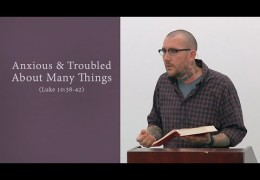 Anxious & Troubled About Many Things (Luke 10:38-42)