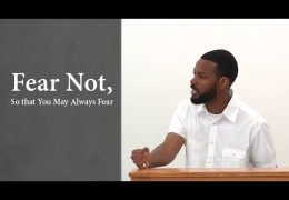 Fear Not, So that You May Always Fear – Tawfiq Cotman-El