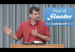 Fear of Slander – James Jennings